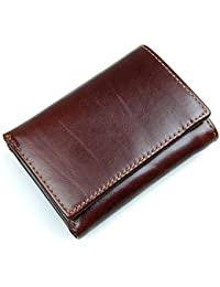 5aed3e1ef1ce0 Yamyannie Herren Geldbörse Münzfach Ultradünne PU-Leder-Tasche für Herren  mit schlanker Fronttasche für Kreditkarten-Bargeld-ID…