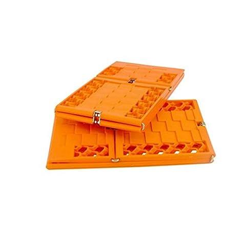 Nola Sang Traktions Anfahrhilfe Auto Traktion Pad Traktion Matt Schlamm Schnee Sand Ice tragbar Auto Flucht montieren Emergency Grip Pad-Orange (2 Stk) , 130cm