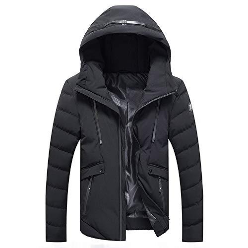 Bazhahei uomo top,uomo giacca calda,invernale cappuccio da uomo antivento uomo imbottito cappotto con cappuccio collare addensare caldo impermeabile a prova di vento piumino giacca parka giubbini