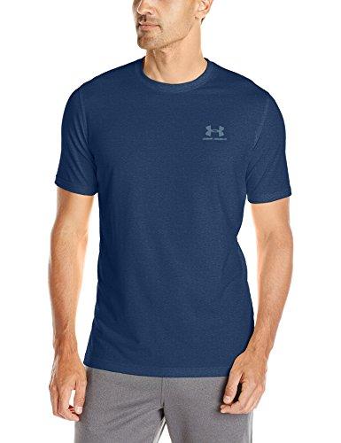 Under Armour Herren Fitness Cc Left Chest Lockup Kurzarm T-Shirt, Blackout Navy Medium, L, 1257616