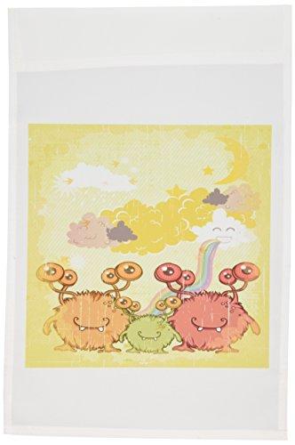 _ 1Cute Furry Mommy Daddy und Baby Monster Familie Fantasy Vector Design Garten Flagge, 12von 18 (Monster-zeichnungen Für Halloween)