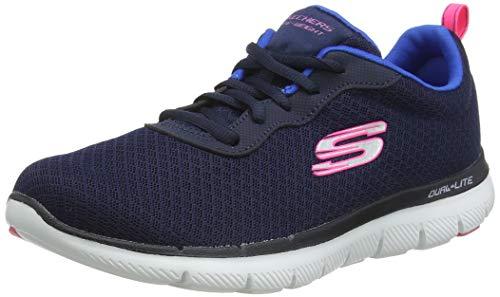 Skechers Women Flex Appeal 2.0 Newsmaker Sneaker, Blue Navy, 5 UK 38 EU