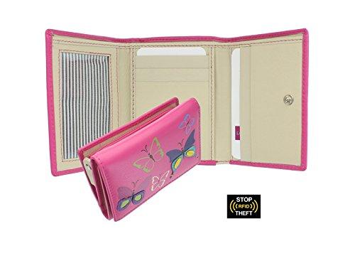 Portafoglio da Donna Compatto in Pelle Mala Leather Collezione MIMOSA - Protezione RFID 3284_83 Grigio Rosa