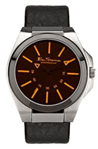 Ben Sherman Men's Quartz Watch with Black Dial Analogue Display and Black PU Strap R921