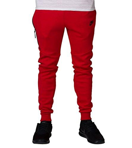 Nike M NSW TCH FLC JGGR - Hosen Schwarz Rojo