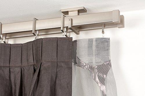 bastone-doppio-per-tende-31x12-mm-rettangolare-l-200-cm-in-acciaio-satinato-completo