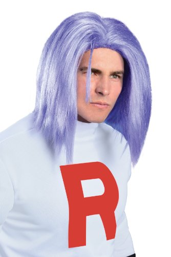Kostüm Jessie (James Pokemon Perücke Erwachsenen-Team Rocket Kostüm Villain Jessie Anime Herren Cosplay)