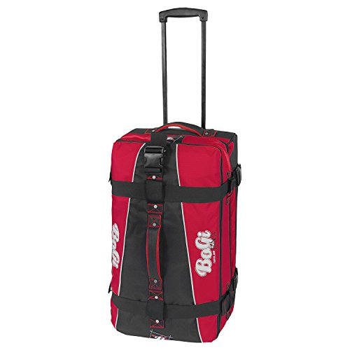 BoGi Bag Reisetasche Rollkoffer Reisekoffer Koffer, 72 cm, 85 L, Rot/Schwarz Preisvergleich