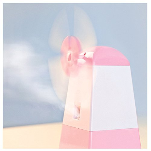 Arsmt Netherlands Windmill 250ML Ultrasonic Cool Mist Humidifier Premium Beautiful Skin Moisturizing Humidifying Unit with Whisper-quiet Operation for Home Office Holland Humidifier (Pink)