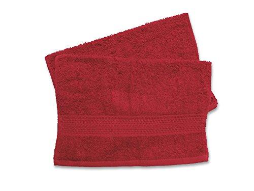 Soleil d'ocre 422101 Douceur Lot de 2 Serviettes Coton Rouge 30 x 40 cm