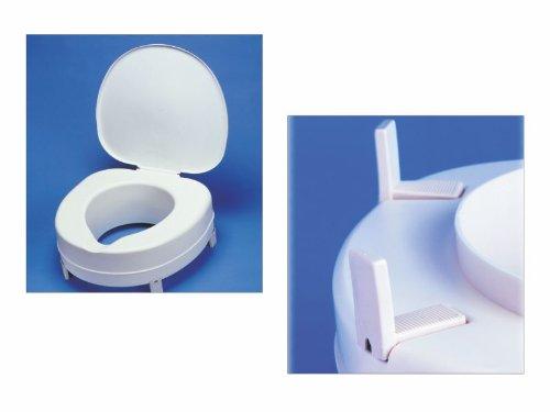 Toilettensitzerhöher Plus 15cm, mit Deckel - Toilettensitz Toilettensitzerhöhung Wcstuhl