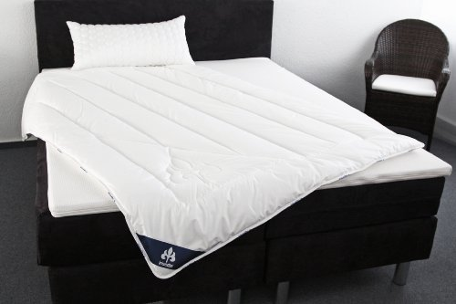 Bettdecke: Badenia Bettcomfort Steppbett Irisette Micro Thermo Duo, 135 x 200 cm, weiß -