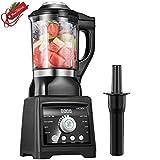 Aicook Blender, Mixeur Multifonction pour Smoothie et Milk-shake, Soupe et Sauce, 1,75L Jarre Tritan Sans BPA, 6 Lames Recouvertes de Titane, 8 Programmes, Auto-nettoyage, 1400W, 25000RPM, Noir