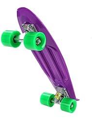 Ancheer Monopatín Skateboards Tabla de PP Ruedas de PU Multicolores de 22 Pulgadas Retro de Crucero