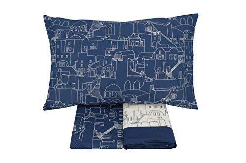 Gabel completo letto, blu ios, singolo