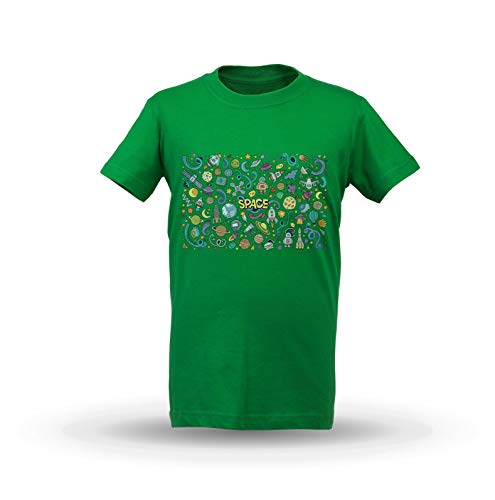 KrisTalas niños Camiseta de Las niñas Space T-Shirt Galaxy T-Shirt NASA Moon...