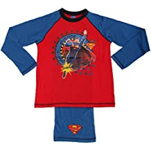 Superman - Conjunto de pijama de manga larga y pantalón largo con diseño de Superman para niño