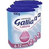 Laboratoire Gallia Calisma - Lait bébé Relais 2ème âge en poudre de 6 à 12 mois 900 g - Lot de 3