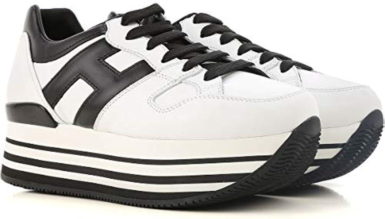 2ceb93b679c3b Hogan Women s HXW2830T548HQK0001 White HXW2830T548HQK0001 Black Leather  Sneakers Parent nhta-29734 Leather B07HJ6RRZS 2e57896 - www.stechguru365.com