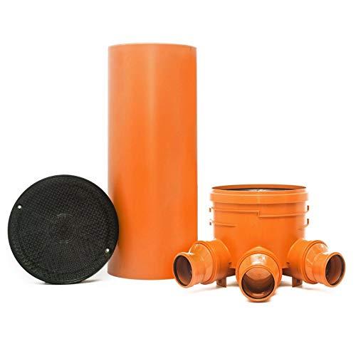 KG Schacht DN400/DN110 - Komplett SET - KG Rohr - Kanal Entwässerung - Deckel -