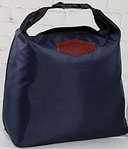 Sacs à lunch d'isolation, Chickwin feuille d'aluminium épaisse de sacs de glace en tissu Oxford, sac de glace fraîche, sac isotherme, sacs de pique-nique, des sacs de repas, sacs de stockage. (Bleu Foncé)