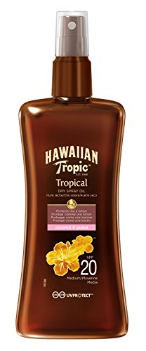 Hawaiian Tropic Protective Dry Spray Oil LSF 20, 200 ml