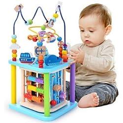 Baobë Ensemble de Jouets en Bois Labyrinthe, Cube Toys, Labyrinthe de Perles pour Enfants, Centre d'activités 4 en 1 de Sea World, Cadeau idéal pour Les Enfants (Sea World)
