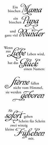 """Clear Stamp-Set Stempel-Gummi - Karten-Kunst Weise Worte \""""Baby\"""""""