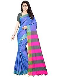 e0baad950b4de Shree Ram Krishna Soft-Silk Plain Saree With Blouse Piece-Sky Blue