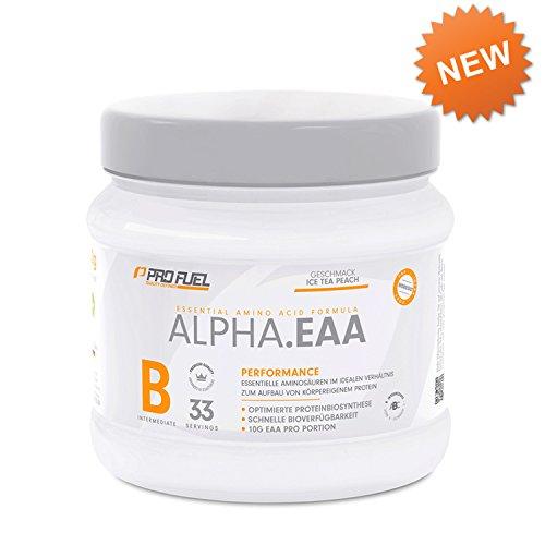 Premium EAA Pulver - 8 essentielle Aminosäuren - tolle Löslichkeit und sensationeller Geschmack - 462 g ICE TEA PEACH
