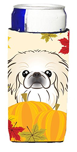 pekingese-thanksgiving-michelob-ultra-koozies-for-slim-cans-bb2027muk