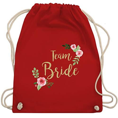JGA Junggesellinnenabschied - Team Bride Blumen vintage - Unisize - Rot - WM110 - Turnbeutel & Gym Bag