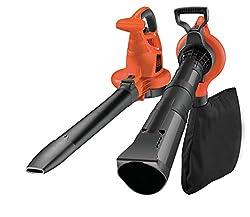 Black+Decker Laubsauger und Bläser GW3030 mit Häcksler, 50l Fangsack und Zweithandgriff - Variable Blasgeschwindigkeit bis 418km/h - 14 m³/Min Saugleistung - Rückenschonende Benutzung