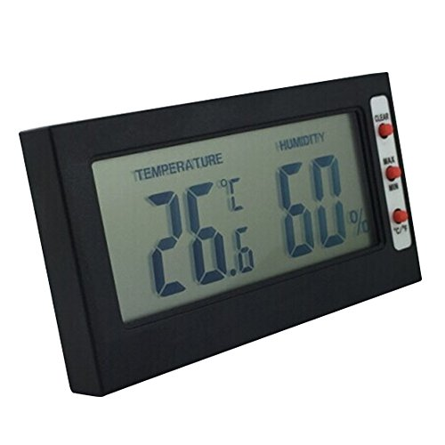 Incubator Thermometer Hygrometer LCD Anzeige Grad Celsius,Indoor Ultra-thin Wireless,Beetest