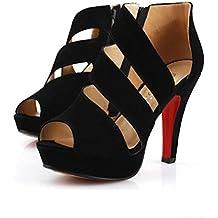 LUCKYCAT Amazon, Sandales d\u0027été Femme Chaussures de Été Sandales à Talons  Chaussures Plates