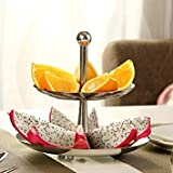Stainless Steel Ciecle Cake Plate Stand Cupcake Fruit Holder