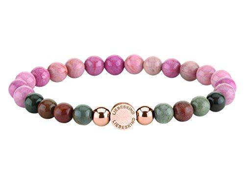 Liebeskind Berlin Beads 6mm mit Logotag und Edelstahl Kugel - Mit Türkis-perlen Armband