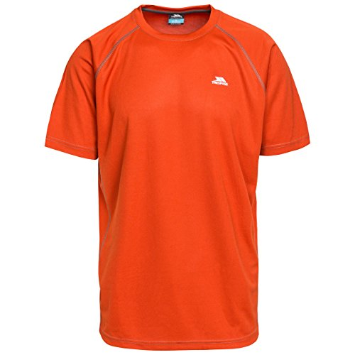 Trespass Men Debase Quick Dry T-Shirt - Burnt Orange, X-Small