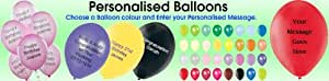 100 Assorted Personalised 12 Inch Balloons