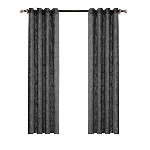 HJJHJ Moderne Minimalistische Wohnzimmer Balkon Verdunkelungsvorhänge Schlafzimmer Erker Fenster Einfarbig Oxford Tuch Vorhänge(Zwei Stück), Gray, 140 * 240cm