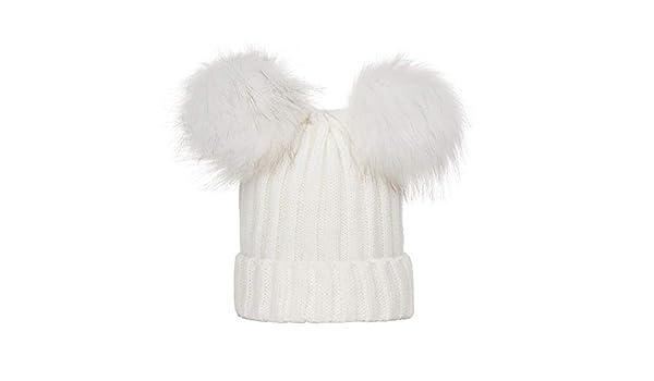 ZEELIY Inverno Cappello con Doppio Pompon Berretto Donna Elegante Beanie in  Cotone a Maglia  Amazon.it  Abbigliamento 4cf07faa4ad7