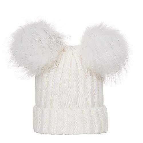 9ee4ebbdfc172 Cebbay Gorra de Bebe Cálido Gorro de Punto Liquidación Sombrero Caliente de  niña bebé Sombrero de