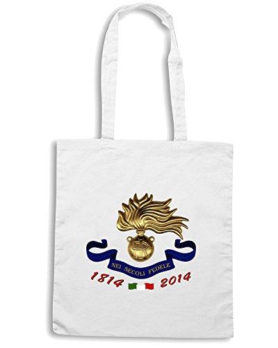 T-Shirtshock - Borsa Shopping TM0605 BICENTENARIO CARABINIERI Bianco