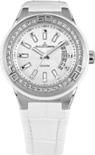 Jacques Lemans Unisex-Armbanduhr Miami Analog Quarz Leder 1-1776B