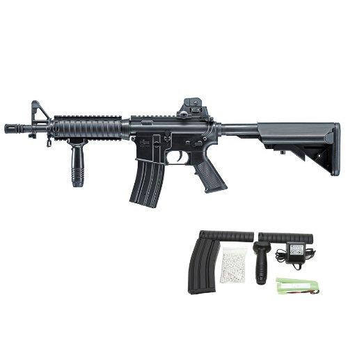Softair Gewehr 0,5J Combat Zone Model 4 Combat mit Granatwerfer Springer 6mm BB schwarz