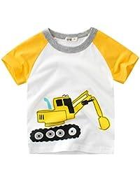 Chicos Tops Camiseta,Subfamily Camiseta de Manga Corta con Estampado de Dibujos…