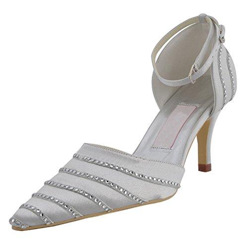 Kevin Fashion ,  Damen Modische Hochzeitsschuhe Silber