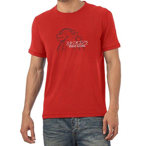 TEXLAB - Studio Gojira - Herren T-Shirt, Größe M, (Chihiros Reise Kostüm Zauberland Chihiro Ins)