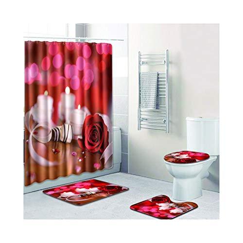 Knbob Badvorleger Set 6Tlg Rose Stil 11 Wc Matte Dünn 45X75Cm