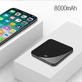 iHome Tragbares Ladegerät, 8000 mAh, Mini-Powerbank, externes Metall-Polymer, große Kapazität, mobiles Netzgerät, kompatibel mit iPhone XS Max XR 8 7 6 5 Plus iPad Android Handy Galaxy Note LG Gopro